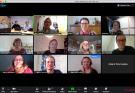 Projektiryhmä koolla Zoom-etäneuvottelussa